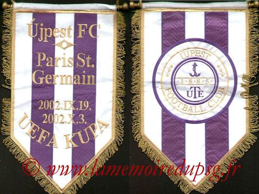 Fanion PSG-Ujpest FC 2002-03