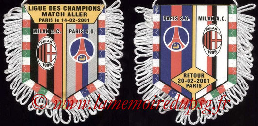Fanion PSG-Milan AC 2000-01