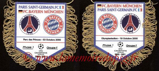 Fanion PSG-Bayern Munich 2000-01