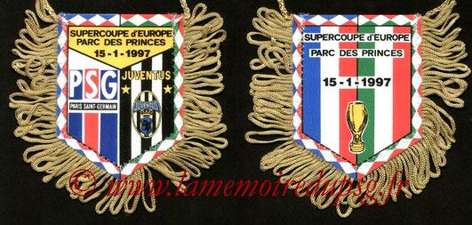 Fanion PSG-Juventus Turin  1996-97