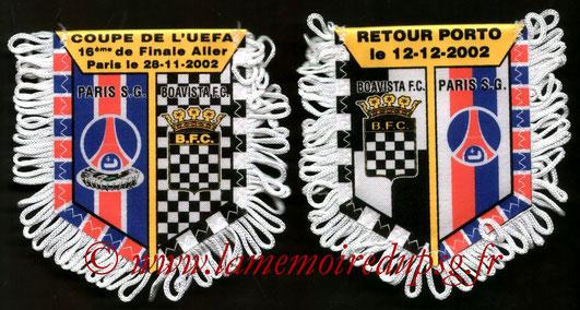 Fanion PSG-Boavista Porto 2002-03