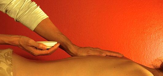 Eine Rückenmassage
