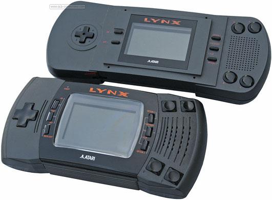 Atari Lynx, 1989 (arriba) y Atari Lynx II, 1991