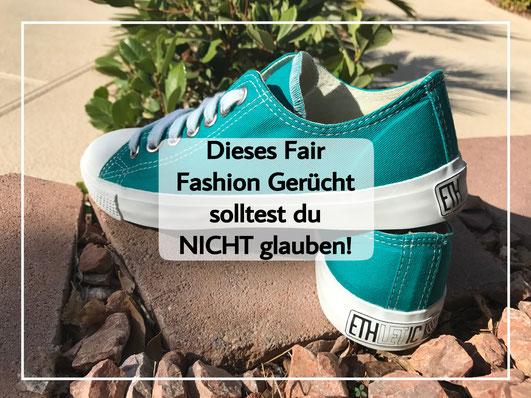 Dieses Fair Fashion Gerücht solltest du NICHT glauben. Nachhaltige Mode. Schuhe von Ethletics. Sneaker. Trainer.