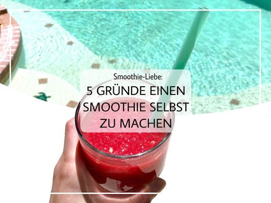 Ein Erdbeer Wassermelone Smoothie für das perfekte Sommer Feeling!