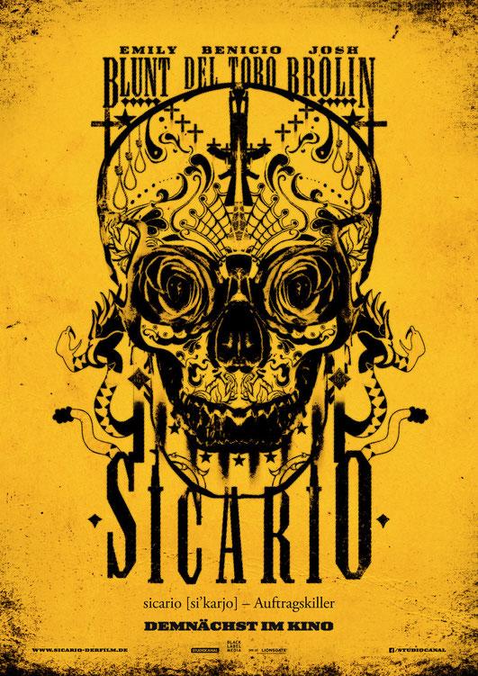 Sicario - Trailer - Benicio Del Toro - Emily Blunt - Studiocanal - kulturmaterial - Plakat