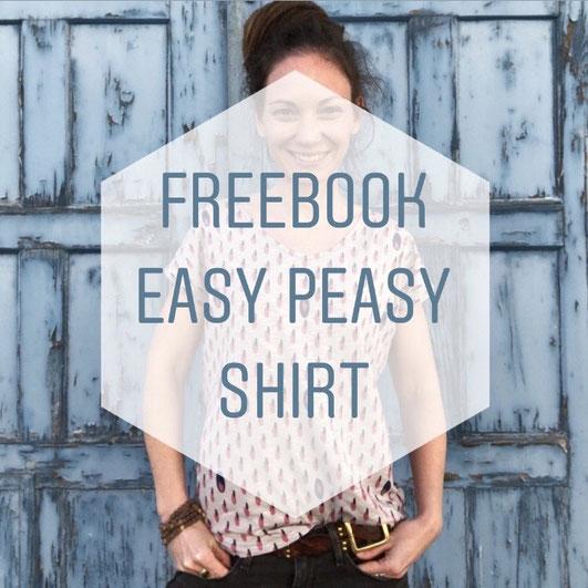 Katjuschka - Easy Peasy Basic Shirt gratis Nähanleitung freeBook Nähtutorial Nähen
