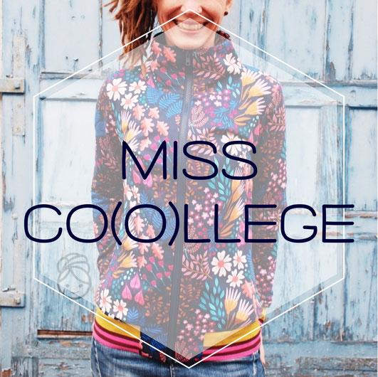 Katjuschka - Miss Co(o)llege Nähanleitung eBook Nähtutorial Nähen Anleitung Sweatjacke Collegejacke Jacke