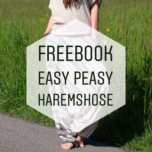 Katjuschka - Oversize Shirt Easy Knit & Easy Peasy Haremshose gratis Nähanleitung freeBook