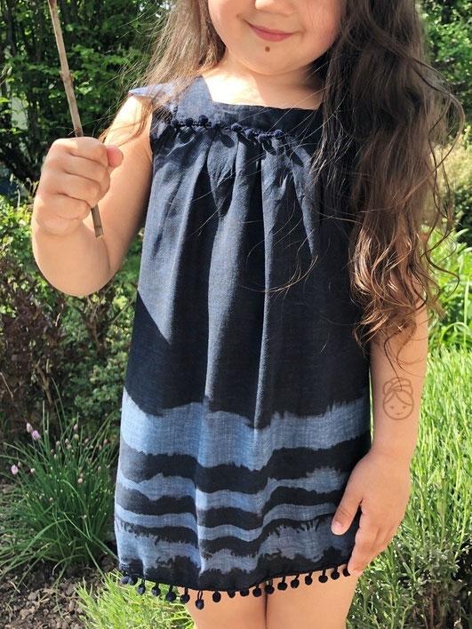 Katjuschka - Nähen Batik Batikkleid Kinderkleid Bohokleid