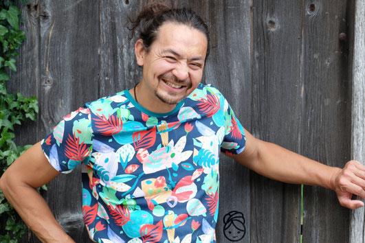 Katjuschka - Mister T T-Shirt Kurzarmshirt Herrenshirt Männershirt eBook Nähanleitung Nähtutorial Nähen Brusttaschen