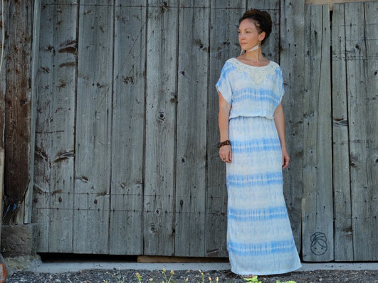 Katjuschka - Mis Boho Maxikleid Boholiebe Hippikleid Sommerkleid Batikkleid Kleid Batik Bohemian Bohomode