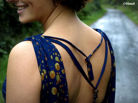 stitched Shibori japanisch Färben Batik