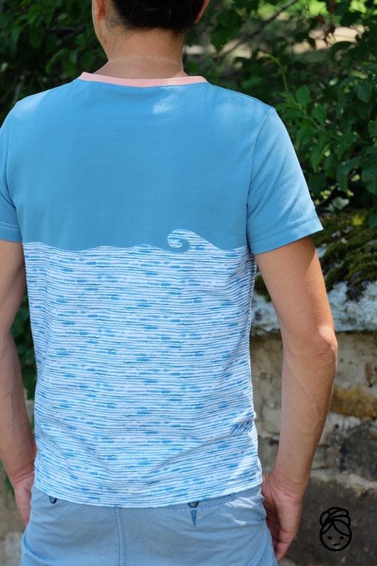 Katjuschka - Mister T T-Shirt Shirt Henley Longsleeve Basic Basicshirt Männershirt Schnittmuster Nähanleitung eBook Nähtutorial Anleitung Nähen lernen