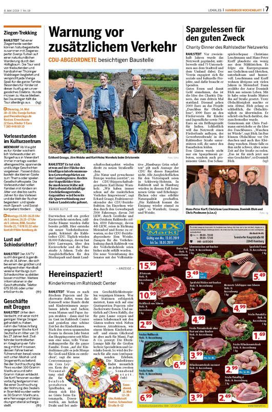 Interessant: Der umjubelte Vertrag des NABU ist und bleib eine Kathastrophe... warum? Quelle: Wochenblatt Rahlstedt