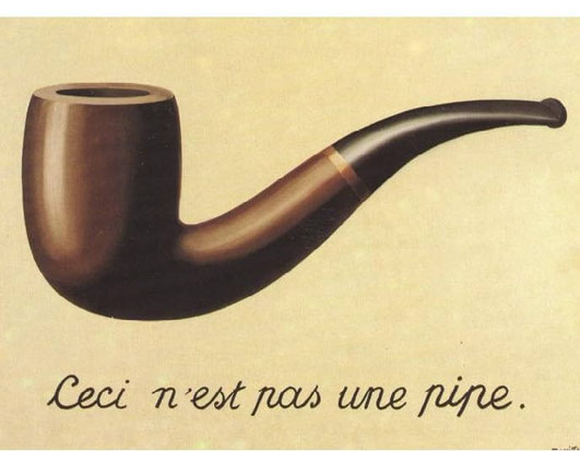 """Magritte, """"Il tradimento delle immagini"""""""