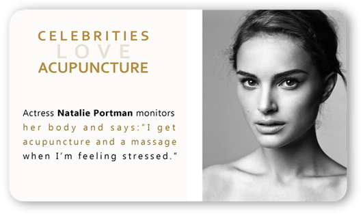 Natalie Portman acupuncture
