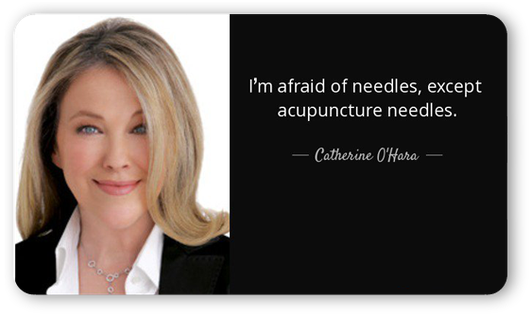 Catherine O'Hara acupuncture
