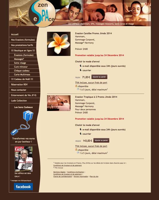 Exemple : zen-espace.com, réalisé par 24-7