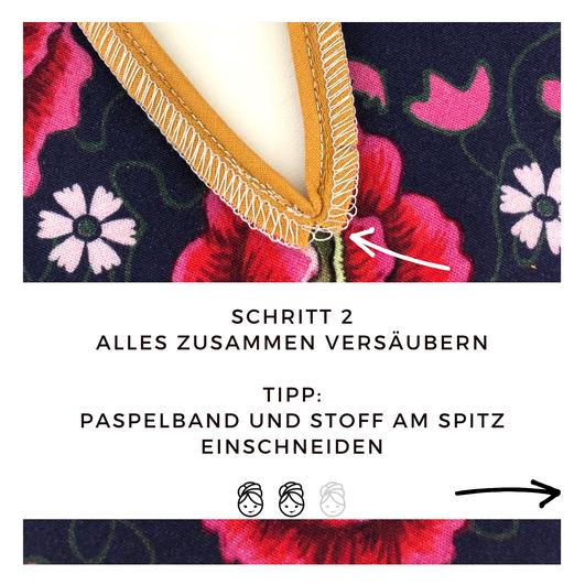 Schlitz. mit Paspel Schritt 2 verzaubern und einschneiden