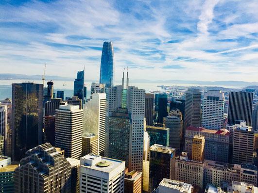 Think Big! In Downtown San Francisco sprießen die Ideen und Hochhäuser gleichermaßen in den Himmel.