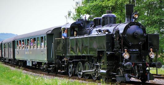 """""""Sissi"""", Dampflok Nr. 93-1378, fuhr auch schon auf der Kandertalbahn."""