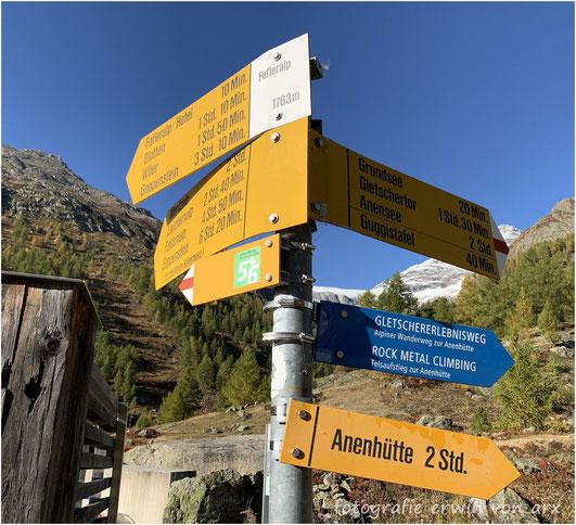 Lötschental, Fafleralp, Grundsee, Anenhütte, Langgletscher, Lonza, Lötschenlücke, Guggisee