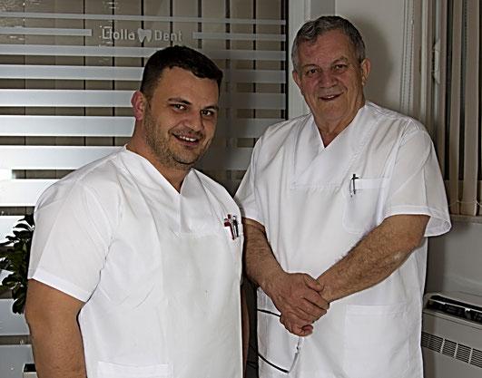Dr Miradin Llolla (junior) & Dr Reshid Llolla (senior)