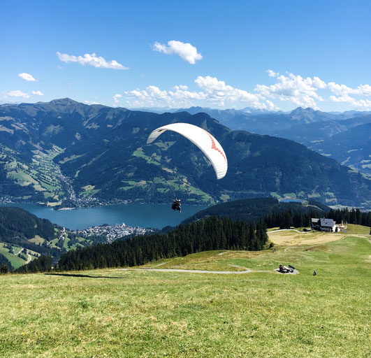 Short after the take-off, with a great view to Zell am See