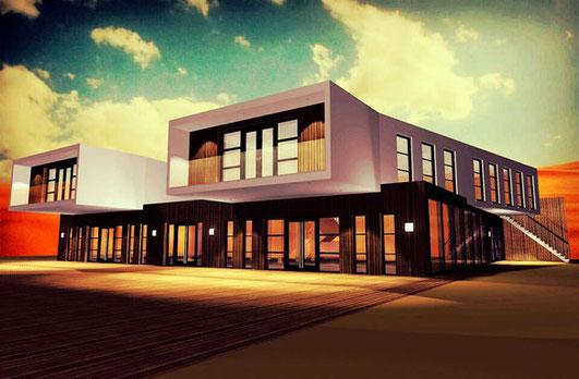 3D ontwerp bedrijfsgebouw Moerdijk