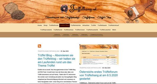 Trüffel Blog – Abonnieren sie den Trüffelblog – wir halten sie am Laufenden rund um das Thema Trüffel