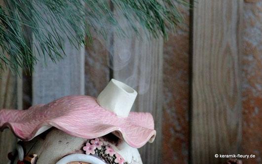 Keramik Duftlampe Wellness pur