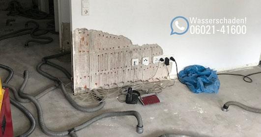 SAGA Wasserschaden Aschaffenburg / Was tun bei einem Wasserschaden? Wasserrohrbruch in einer Eigentumswohnung in Aschaffenburg / Leckortung, Rückbau, Trocknung und Wiederherstellung