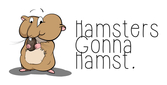 An illustration of a full cheeked hamster