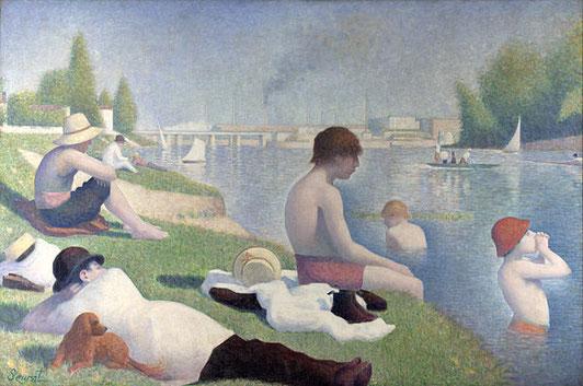 《アニエールの水浴》1883-1884年