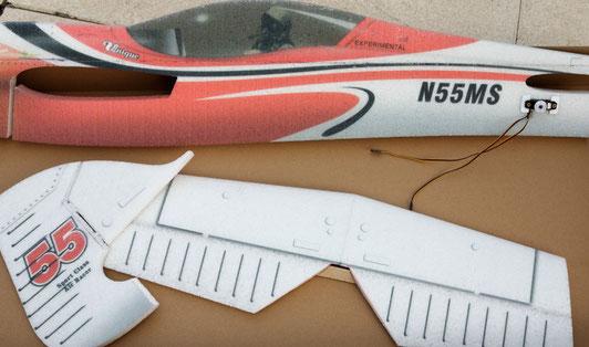 Le fuselage, la profondeur et les volets