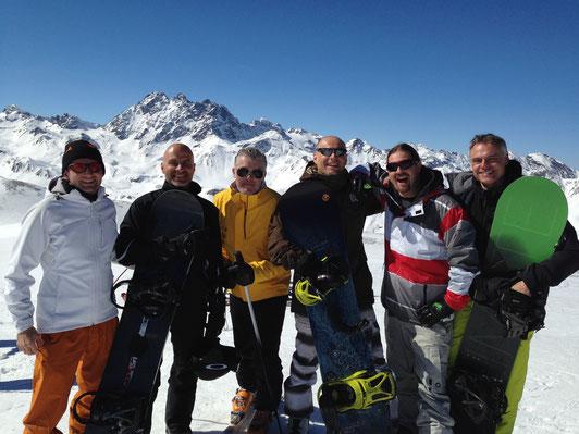 Daniel Fritschi, Urs Kuenz, Michael Hermann, Guido Lanter, Reto Angst, Marcel Brandtner in Ischgl