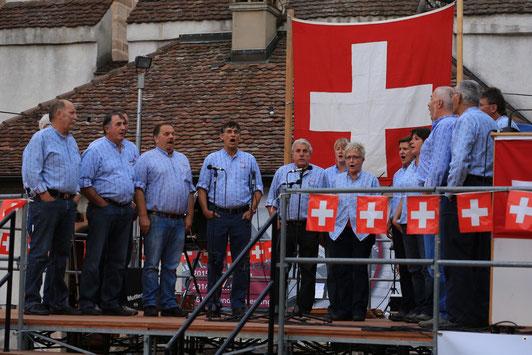 Bundesfeier 2015 auf dem Dorfplatz in Muttenz am 31. Juli 2015