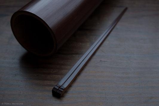 箸づくりに使える煤竹は残りわずかになりました