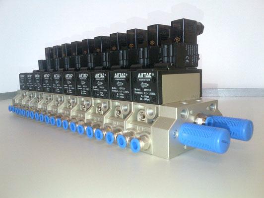 KOMPAUT Batteria di elettrovalvole ISO Airtac