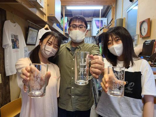 ガラスアート体験教室サンドブラスト彫刻体験