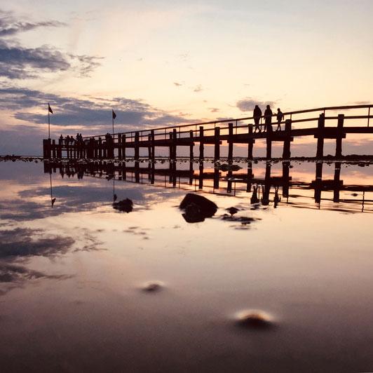 Sonnenuntergang am Strand von Utersum, Föhr