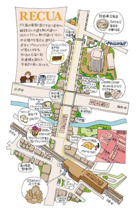 恵比寿手書き地図
