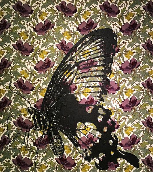 Farfalla / acrylic on fabric / 2018 / 140 x 125 cm