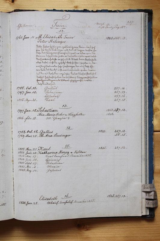 Original-Familienbuch von 1846: Seite 257