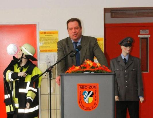 Grüße aus dem bayerischen Innenministerium überbrachte Ministerialrat Herbert Feulner.