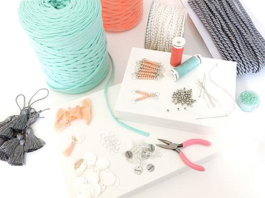 Material zur Herstellung von Brillenbändern Mojichi