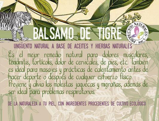 Bálsamo de tigre unguento calmante-aceites y hierbas naturales