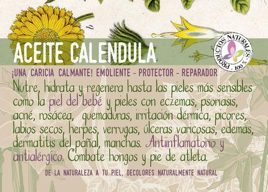 aceite caléndula-cosmética natural ecológica-hidratante