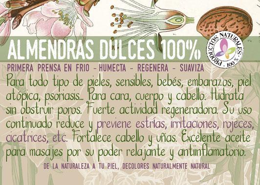 aceite de almendras dulces-hidratación-cosmética ecológica certificada